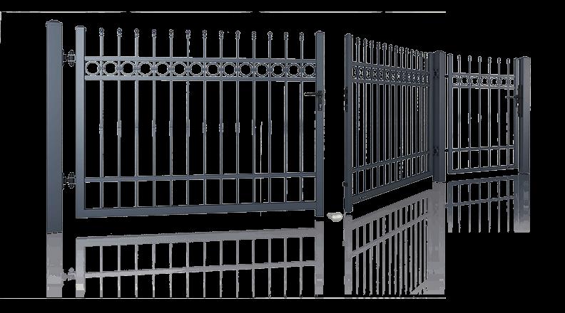 Ogrodzenie posesyjne, brama skrzydłowa, furtka Wiśniowski. Adams Salon partnerski Żary