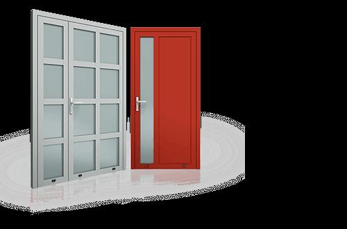 Drzwi aluminiowe, drzwi zwenętrzne, drzi Plus Line Wiśniowski. Adams Salon partnerski Żary