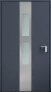 Drzwi ECO BASIC, aplikacja, przeszklenie | Antracyt