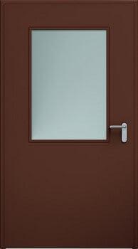 Drzwi ECO, przeszklenie 650x950 mm | RAL 8017