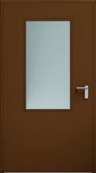 Drzwi ECO, przeszklenie 550x1100 mm | RAL 8014