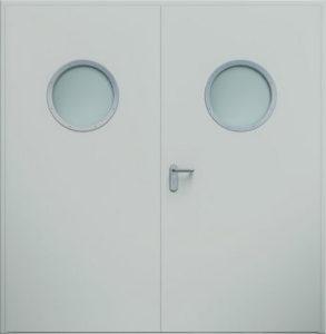 Drzwi ECO dwuskrzydłowe, bulaj   RAL 7035