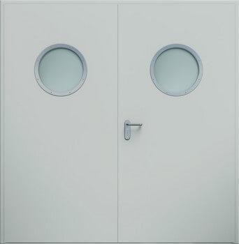 Drzwi ECO dwuskrzydłowe, bulaj | RAL 7035