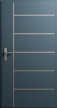 Drzwi MultiSecure, wzór MS3 | RAL 7016
