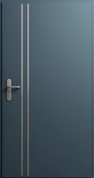 Drzwi MultiSecure, wzór MS4 | RAL 7016