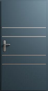 Drzwi MultiSecure, wzór MS5 | RAL 7016