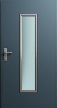 Drzwi MultiSecure, przeszklenie 250x1400 [mm] | RAL 7016