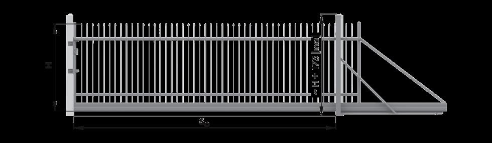 Ogrodzenia posesyjne, brama przesuwna Wiśniowski. Adams Salon partnerski Żary