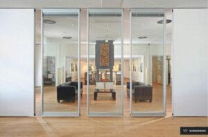 Ścianki zewnętrzne, ścianki wewnętrzne, stolarka Wiśniowski. Adams Salon partnerski Żary