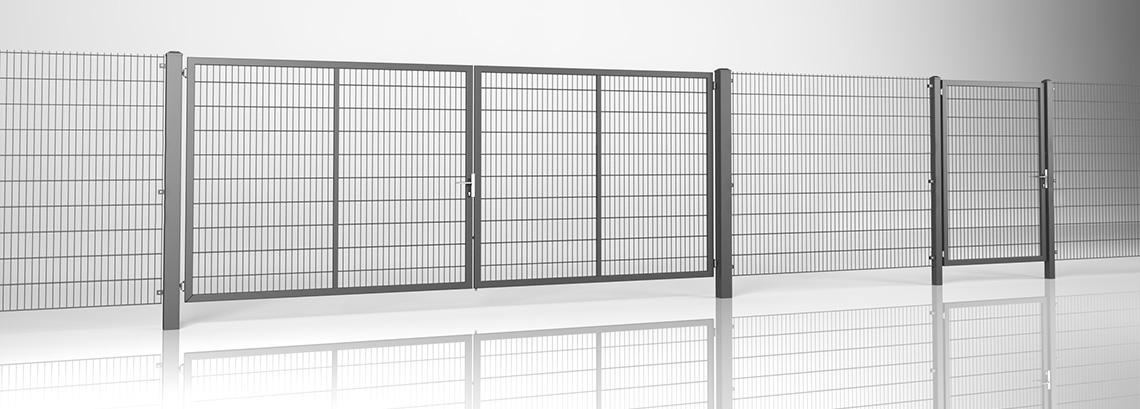 Ogrodzenie posesyjne, panele kratowe 2D Wiśniowski. Adams Salon partnerski Żary