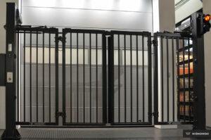 Bramy przemysłowe, brama składana V-King Wiśniowski. Adams Salon partnerski Żary