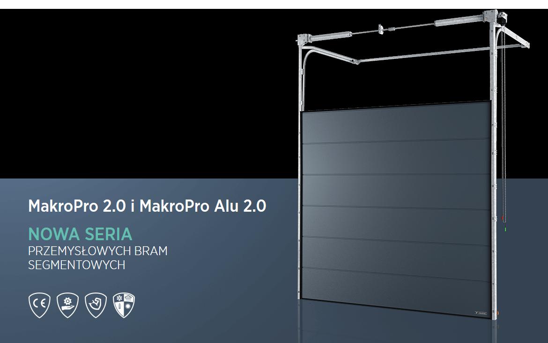 Bramy przemysłowe, brama segmentowa, seria MakroPro 2.0 Wiśniowski. Adams Salon partnerski Żary