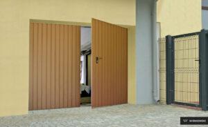 Bramy garażowe, brama rozwierna Wiśniowski. Adams Salon partnerski Żary
