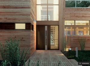 Drzwi zewnętrzne, drzwi aluminiowe, drzwi Creo Wiśniowski. Adams Salon partnerski Żary