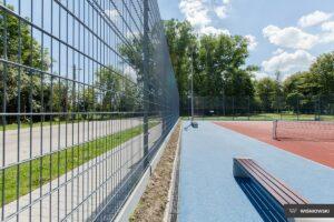 Ogrodzenie sportowe, panele kratowe 2D Wiśniowski. Adams Salon partnerski Żary