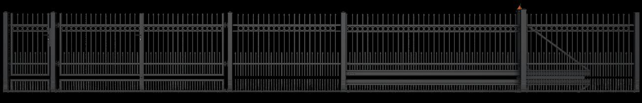 Ogrodzenia posesyjne, ogrodzenie, system Style Wiśniowski. Adams Salon partnerski Żary