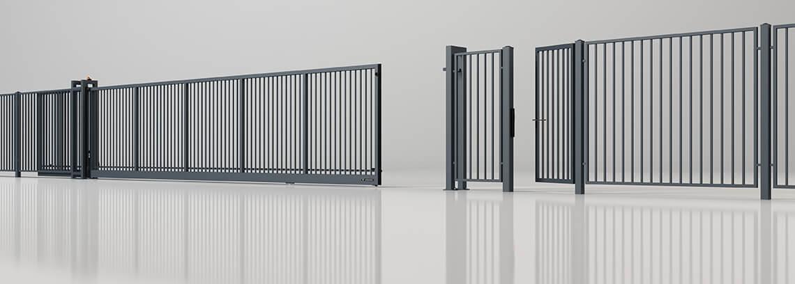 Ogrodzenia przemysłowe, brama na kołach, seria Wi, brama przesuwna Wiśniowski. Adams Salon partnerski Żary