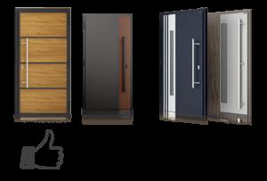Drzwi aluminiowo-stalowe, drzwi zwenętrzne, drzwi Nova Wiśniowski. Adams Salon partnerski Żary